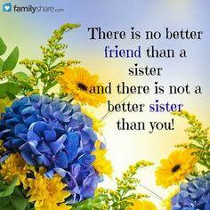 Love my sister Love My Sister, Best Sister, True Friends, Best Friends, Jesus Loves Us, Sisters Forever, Jesus Is Coming, Sisters In Christ, Sister Quotes