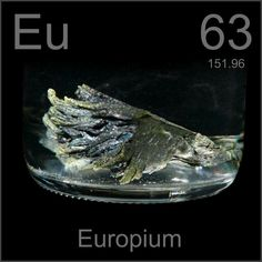Europium used in LED´s, Nuclear Fission and Lasers.  Europium provides the color red in TV´s and fluorescent lamps.