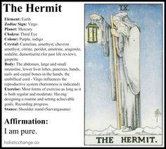 Holistic Correspondences for the Tarot Hermit