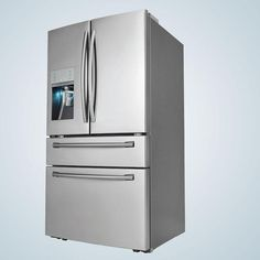 """We've seen some pretty snazzy high tech refrigerators lately, but a fridge that has a sparkling water dispenser? That takes the cake. Samsung has announced that its new 36"""" four..."""