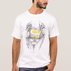 Sketched Chest Superman Logo T-Shirt - tap, personalize, buy right now! #TShirt  #superman #clarkkent #comic #superhero #afflink Superman Gifts, Superman T Shirt, Clark Kent, T-shirt Logo, S Man, Logos, Dc Comics, Fitness Models, Logo