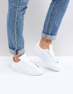 b8f36f956cb26 adidas Originals All White Stan Smith Sneakers