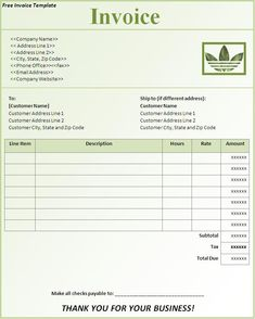 free invoice template - sample invoice #3 | bakery | pinterest, Invoice examples