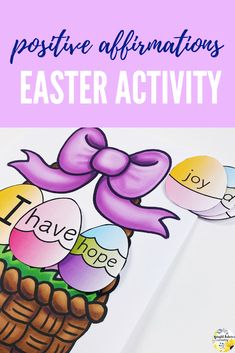 Help students identify positive affirmations to increase their self-esteem in this Easter activity. Can be used with a school counseling small group, individual session, or classroom guidance lesson. Elementary School Counseling, School Counselor, Elementary Schools, Self Esteem Activities, Counseling Activities, Bullying Prevention, Social Emotional Learning, Easter Activities, Learning Through Play
