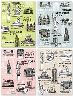 Illustrated NYC cards. Thank you.