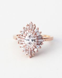 """Heidi Gibson oval """"Gatsby Petite"""" engagement ring, from $2,100, heidigibson.com."""