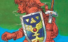 Katsuya Terada's Promotional Work from A Link to the Past. #zelda