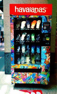 ///Flip-Flop ///Havaianas Vending Machine