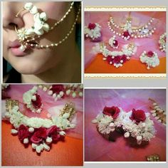 Artificial flower jewellery set... Looks real from SIRAA