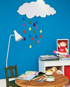 Craft Ideas for Kids Room Decorating with Fabrics and Bright Handmade Accents
