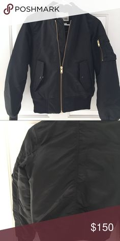 Aritzia Black Bomber Jacket New without tags, never worn Wilfred Jackets & Coats