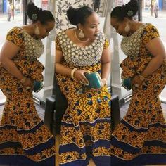 African clothing : Simple Ankara Skirt and Blouse Styles .African clothing : Simple Ankara Skirt and Blouse Styles Latest African Styles, Ankara Styles For Men, Ankara Long Gown Styles, Beautiful Ankara Styles, Latest Styles, African Attire, African Wear, African Women, African Dress