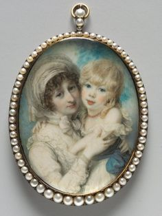 Richard Cosway, Portrait of Catherine Clemens and Her Son, John Marcus Clemens, c.1800