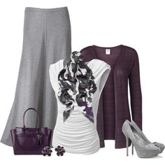 purple & grey. by lydiaraub on Polyvore featuring Vero Moda, J.TOMSON, Christopher Kane, LC Lauren Conrad, Sergio Rossi, Cole Haan and Hring eftir hring