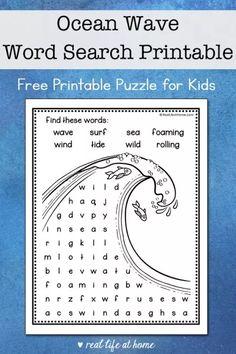 Ocean Activities, Summer Activities For Kids, Lessons For Kids, Science For Kids, Preschool Activities, Motor Activities, Printable Puzzles For Kids, Kids Puzzles, Free Printables