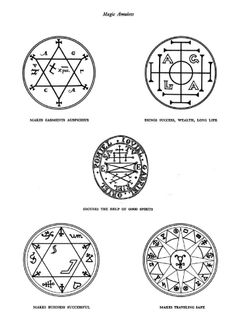 Sigils of magical protection, mainly kabbalistic in nature. Good to have on hand, just in case.