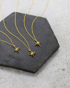 STARS  Tiny vermeil gold stars on 14ct gold filled chain. Simple classic and easily styled up with longer necklaces. . . Sorry I've been so quiet on here recently. Think I did my first face story I had done in a while today! I keep going into full on work mode and forget about the gram! And also hello to some lovely new followers from today  Hope you've all had a good day xx . . . . . #stars #gold #necklace #starnecklace #jewellery #dainty #pretty #simple #goldfilled #gift #present #treat… Star Necklace, Gold Necklace, Gold Filled Chain, Gold Stars, Followers, Forget, Xmas, Necklaces, Jewellery