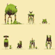 Game Design, Game Character Design, Character Design Inspiration, Character Art, Arte 8 Bits, Cool Pixel Art, Posca Art, Arte Robot, 8bit Art