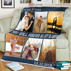 The 'You Will Forever Be My Always' photo collage blanket is a perfect anniversary gift for your partner. The blanket is a wonderful way to keep the memories you made as a couple close to your heart.  This custom blanket lets you upload six photos, edit names, and add a special date in your relationship. The middle of the photo blanket has a romantic quote that goes: 'You Will Forever Be My Always.' It is a gift that your partner will cherish for years to come.