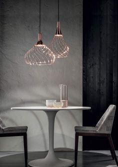 This charming suspension lamp is named after the first hot air balloon and it has the same lightness and charming elegance. The Mongolfier pendant lamp by the Italian manufacturer Ma & DE consists of an organic structure of enveloping lines that wind a. Interior Lighting, Home Lighting, Modern Lighting, Lighting Design, Lighting Stores, Kitchen Chandelier, Kitchen Lighting, Decoration Inspiration, Unique Lamps