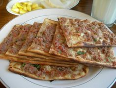 Who doesn't love pizza? In Turkey 'pide' is the equivalent. See our Turkish Pizza Recipe. Pide recipe, best pide recipe English, how to make pide Turkish Pizza Recipes, Pide Recipe, Meat Recipes, Healthy Recipes, Turkish Kitchen, Breakfast Items, Middle Eastern Recipes, Arabic Food, Iftar