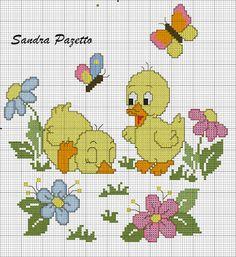 Αποτέλεσμα εικόνας για patos en punto de cruz
