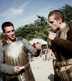 Rhys Meyers and Henry Cavill. This is probably the sexiest picture ever!!!!  King Henry VIII and the Duke of Suffolk