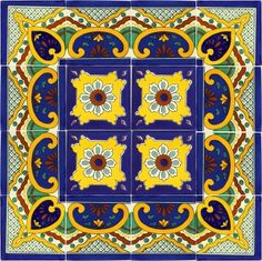 Talavera Tile Set - x7046