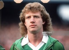 Wales v Northern Ireland, Jimmy Nicholl. Get premium, high resolution news photos at Getty Images Retro Football, Northern Ireland, Manchester United, 1990s, Wales, Soccer, The Unit, Stars, Hair Styles