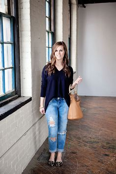 jillgg's good life (for less) | a west michigan style blog: my everyday style: distressed jeans!