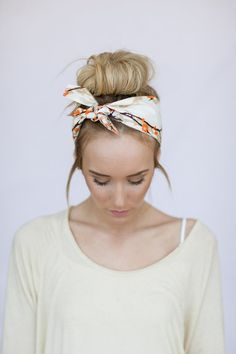 Bun + Small Head wrap for a quick and easy updo on a hot Summer day....or anyday.