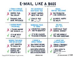 By Ann Handley Designer and illustrator Dani Donovan recently created nine tips to help us all communicate more clearly and effectively in the emails we write. English Writing Skills, Writing Tips, English Vocabulary, English Grammar, Writing Prompts, English Language, Email Like A Boss, Email Writing, Business Writing