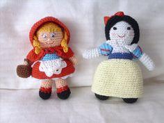 caperucita roja y blancanieves a crochet