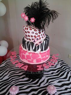 Caribbean Cakes Creations - Animal Print Baby Shower Cake