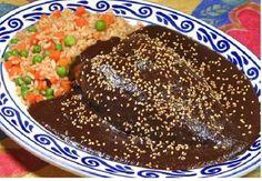 Mole poblano. Delicia de la gastronomia mexicana.