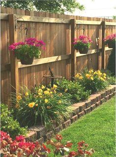 Small Front Yard Landscaping, Small Backyard Gardens, Backyard Patio Designs, Home Landscaping, Backyard Fences, Backyard Projects, Outdoor Gardens, Landscaping Small Backyards, Fenced In Backyard Ideas