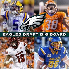Eagles Draft Big Board at pick 32: 1. Leighton Vander Esch LB Boise State 2. Derrius Guice RB LSU 3. Maurice Hurst DT Michigan 4. Isaiah Oliver CB Colorado 5. Ronald Jones RB USC 6. Rashaan Evans LB Alabama 7. Jaire Alexander CB Louisville 8. Will Hernandez OG UTEP 9.  Dallas Goedert TE SD State 10. Donte Jackson CB LSU ______________________________________________ #EaglesNation #Eagles #FlyEaglesFly #GoEagles #PhiladelphiaEagles #Eagles #GoBirds #Philly #Philadelphia #WeBleedGreen #NFL…