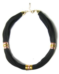 reluxe zoe recycled jersey necklace via fashion-conscience.com