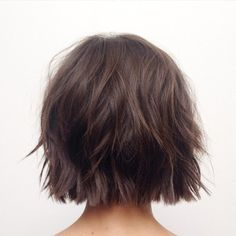 One-Length Choppy Chocolate Bob...