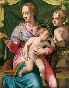 Carlo Portelli, Madonna and Child with Young St John the Baptist, 1535 – 1540, wood panel, Villefranche-sur-Saône, Musée Municipal Paul Dini.