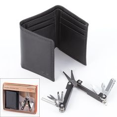 Dockers Trifold Wallet & Folding Grooming Tool Set Great for Father's Day NIB #Dockers #TrifoldwalletwithSevengroomingfunctions