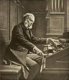 Belgian composer, organist, pianist and music teacher Cesar Franck (1822-1890).