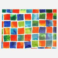 Color Blocks Placemat 4 Pack now featured on Fab.