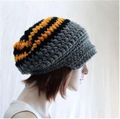 5c02c470732 Crochet Newsboy Hat Adult Brim Hat Slouchy Hat
