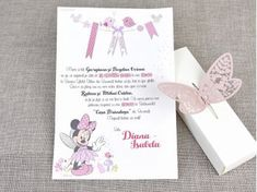 Butterfly minnie the mouse 15708 Travel Themes, Our Wedding, Minnie Mouse, Place Card Holders, Butterfly, Disney, Baby, Newborns, Butterflies