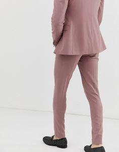 ASOS DESIGN wedding super skinny tuxedo suit pants in mauve Tuxedo Pants, Tuxedo Suit, Suit Pants, Super Skinny, Skinny Fit, Asos, Tuxedo Wedding, Dusty Rose, Mauve