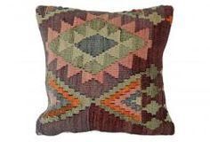 Plum Vintage Kilim Pillow
