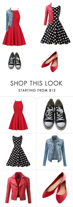 """""""Red Tuesday"""" by gymnstfandomgirl ❤ liked on Polyvore featuring Chi Chi, Converse, LE3NO, Doublju, Wet Seal and pll"""