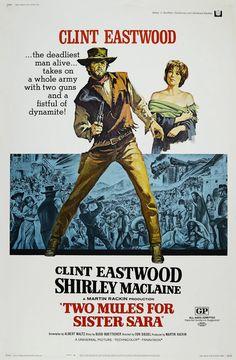 Dos mulas y una mujer - Two Mules for Sister Sara (1970) | Road western de risa... Después de salvar a una monja, el pistolero Hogan emprende junto a ella una huida del...