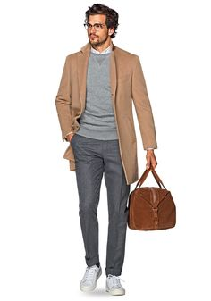 Today's Look: Overcoat. Photo: Suitsupply. #ootd #menswear #mensfashion #mensstyle #instafashion #overcoat #holdall